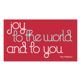joytotheworld gifttag Double-Sided standard business cards (Pack of 100)