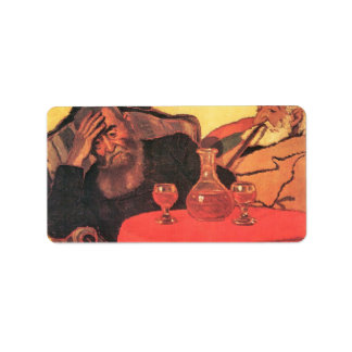 Jozsef Rippl-Ronai - Father and uncle with the red Personalized Address Label