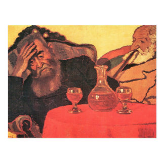 Jozsef Rippl-Ronai - Father and uncle with the red Postcard