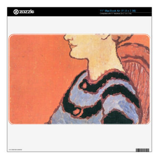 Jozsef Rippl-Ronai - Lady in Blue Decals For MacBook Air