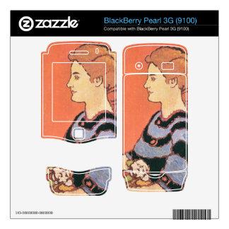 Jozsef Rippl-Ronai - Lady in Blue BlackBerry Skin