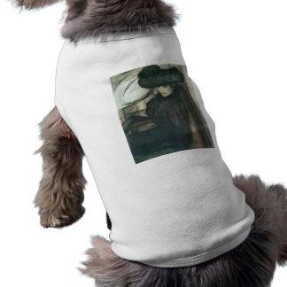 Jozsef Rippl-Ronai - Lady with black veil Doggie T Shirt