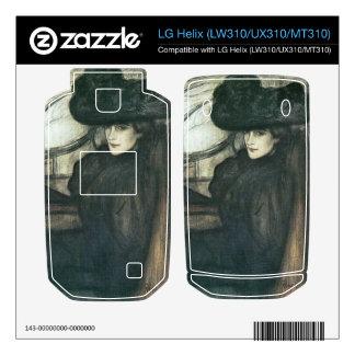Jozsef Rippl-Ronai - Lady with black veil Skins For LG Helix