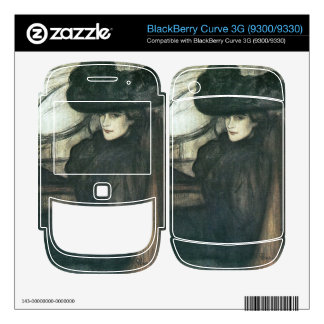 Jozsef Rippl-Ronai - Lady with black veil Skins For The BlackBerry