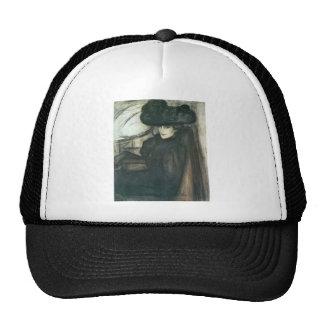 Jozsef Rippl-Ronai - Lady with black veil Trucker Hat