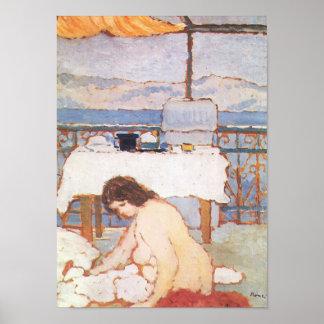 Jozsef Rippl-Ronai - Love on the Terrace Print