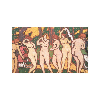 Jozsef Rippl-Ronai - Nudes in the park Gallery Wrapped Canvas