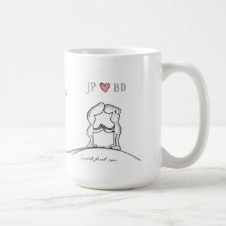 """JP heart BD "" Mugs"