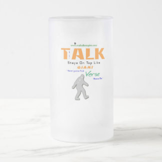 Jpeg - Giant on top Frosted Glass Beer Mug