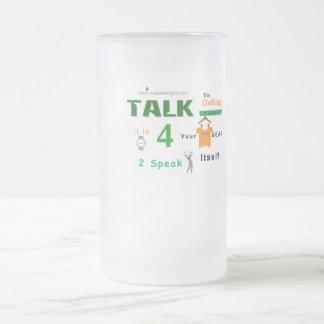 Jpeg - New Speak Itself Frosted Glass Beer Mug
