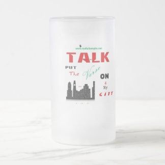 Jpeg - on 4 City Frosted Glass Beer Mug
