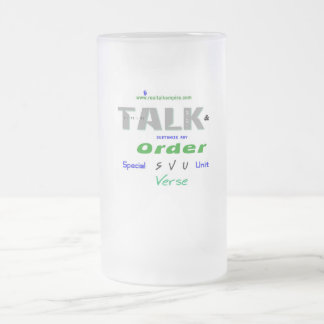 Jpeg - SVU Frosted Glass Beer Mug