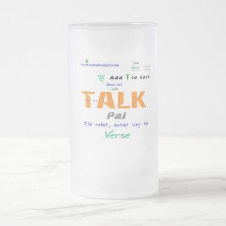 Jpeg - TALK PAL Frosted Glass Beer Mug