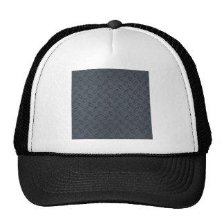 jpg_100806-diamond_plate DARK STEEL PATTERN Mesh Hats