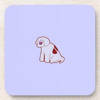 jpg_dog501 MINIMAL CARTOON PUPPY DOG PASTEL BLUE P Drink Coaster