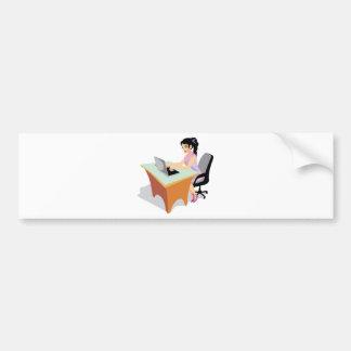 jpg_occupations-021_17192006.jpg Business Woman Car Bumper Sticker