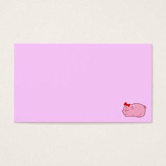 jpg_pig501j MINIMAL CARTOON PASTEL PETS PINK PIGGY Business Card