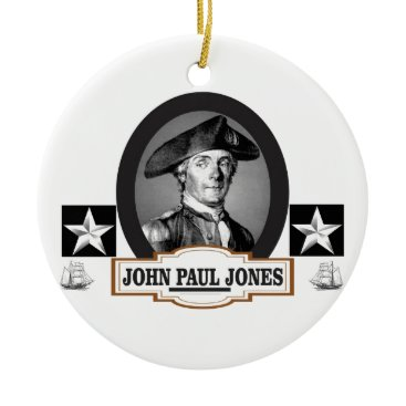 USA Themed jpj two stars ceramic ornament