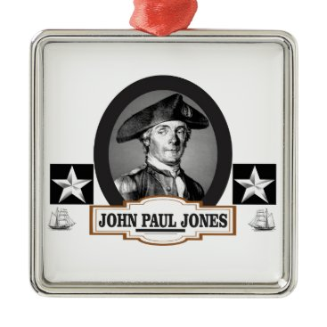 USA Themed jpj two stars metal ornament