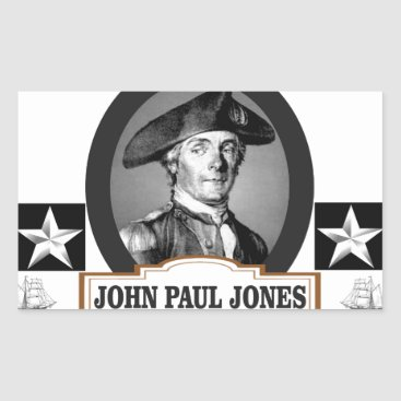 USA Themed jpj two stars rectangular sticker