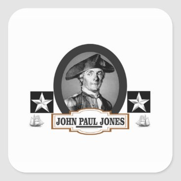 USA Themed jpj two stars square sticker