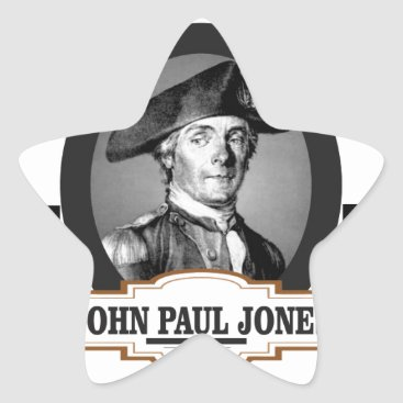 USA Themed jpj two stars star sticker