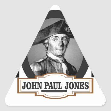 USA Themed jpj two stars triangle sticker