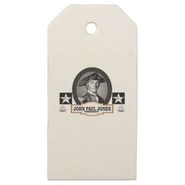 USA Themed jpj two stars wooden gift tags