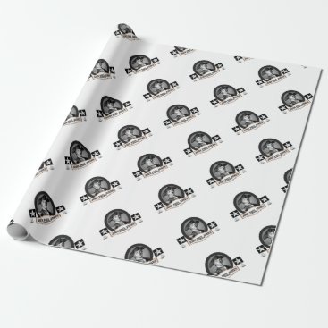 USA Themed jpj two stars wrapping paper