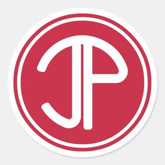 JPlogo_red Classic Round Sticker