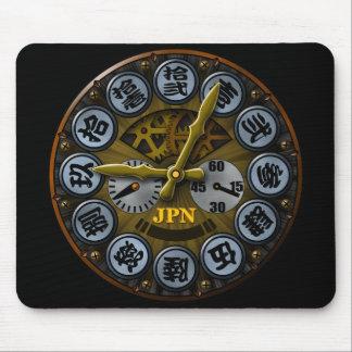 JPN clock Mousepads