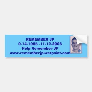 JP's Bumper Sticker - Customized