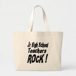 ¡JR alta roca de los profesores de escuela! La Bolsa Tela Grande