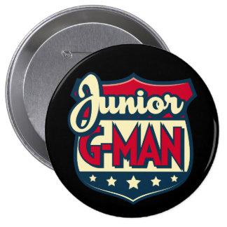 Jr. botón del G-Man Pin Redondo De 4 Pulgadas