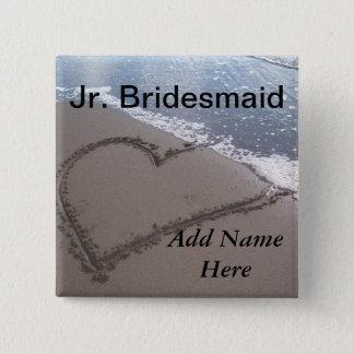 Jr Bridesmaid Beach Wedding Button