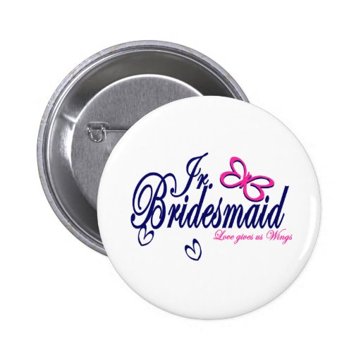 Jr. Bridesmaid/ Butterfly Theme Pin