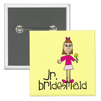 Jr. Bridesmaid Gifts and Favors 2 Inch Square Button