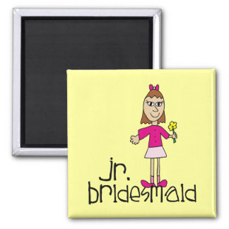 Jr. Bridesmaid Gifts and Favors 2 Inch Square Magnet
