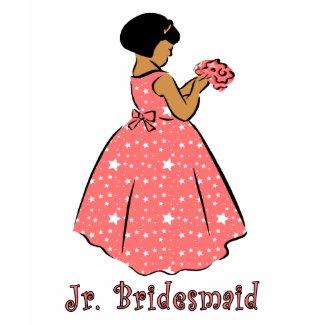 Jr Bridesmaid in Coral shirt