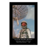 Jr. de Juan H. Glenn del astronauta Poster