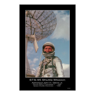 Jr. de Juan H. Glenn del astronauta Póster