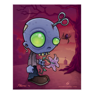 Jr. del zombi póster