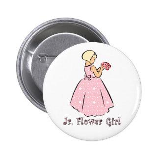 Jr. Flower Girl Wedding ID Button