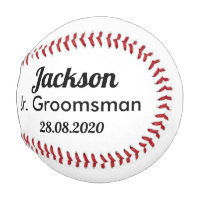 Jr. Groomsmen Proposal Baseball Gift