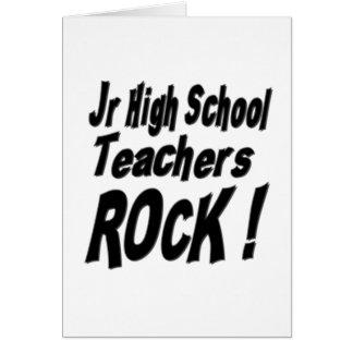 Jr High School Teachers Rock! Greeting Card