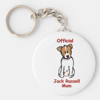 JR Mum Basic Round Button Keychain