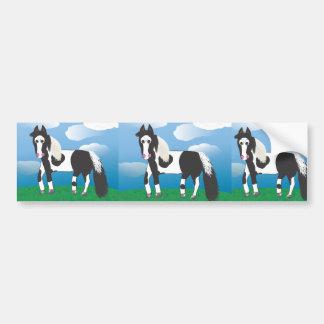 Jr Pinte el caballo Pegatina De Parachoque