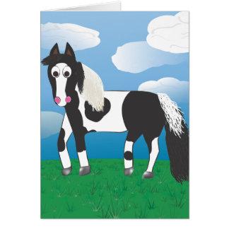 Jr. Pinte el caballo Tarjeta De Felicitación