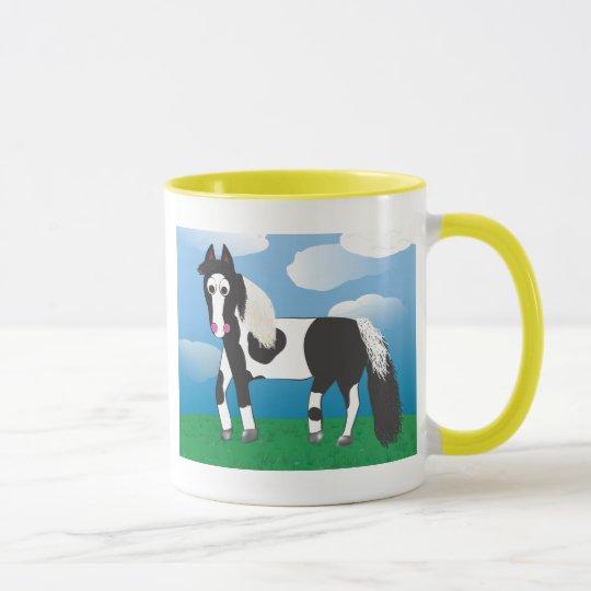 Jr. Pinte el caballo Taza