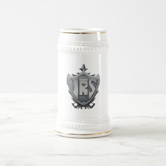 JRS: Blanco/oro Stein Jarra De Cerveza